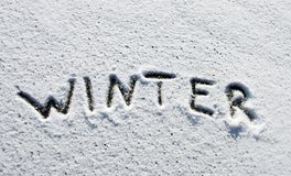 Winter word Stock Photos
