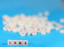 Winter the word. Composed of a cubes with the letters. Scrabble game. soft focus royalty free stock photography