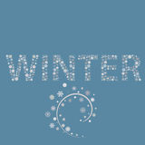 winter word Royalty Free Stock Images