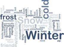 Winter wordcloud Royalty Free Stock Photo
