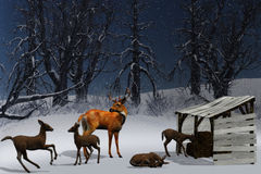 Winter World. 3d render of Winter World Royalty Free Stock Image