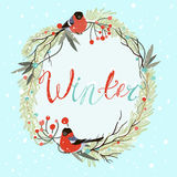 Winter wreath Stock Photo