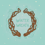 Winter wreath Stock Images