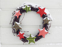 Winter wreath Stock Photos