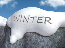 Winter write Stock Images
