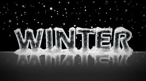 Winter written in ice Stock Image