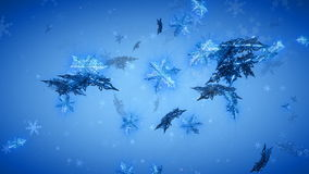 Winter-Wunder-Schneeflocken stock abbildung