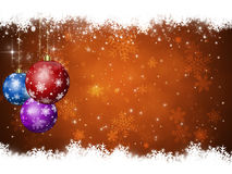 Winter Xmas Balls Royalty Free Stock Images
