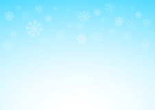 Winter xmas blue background with snowflakes, Christmas and snow concept,  eps 10 illustrated.  Stock Images