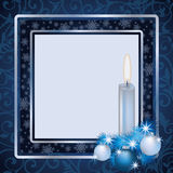 Winter xmas frame scrapbooking Stock Photo