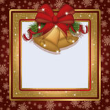 Winter xmas photo frame scrapbooking Stock Photography