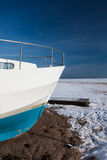Winter yacht Stock Image