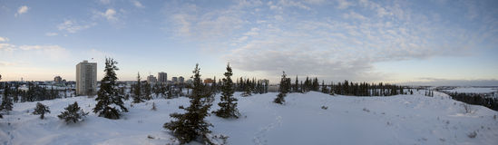 Winter in yellowknife Stock Photography