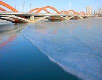 Winter Yifen-Brückenlandschaft lizenzfreie stockfotografie