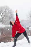 Winter Yoga Royalty Free Stock Images