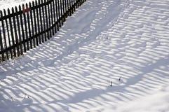 Winter-Zaun Lizenzfreies Stockfoto