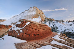 Winter Zion National Park Stock Photo