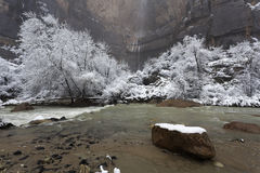 Winter in Zion National Park, Utah Royalty Free Stock Image