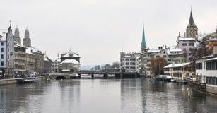 Winter in Zurich Stock Image