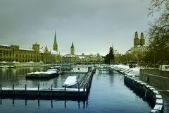 Winter in Zurich Stock Image