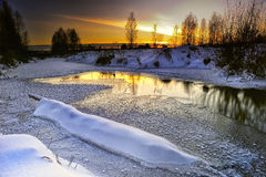 Winterabend stockfotos