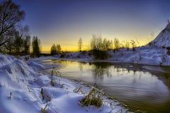 Winterabend lizenzfreie stockbilder