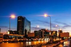 Winterabend in St Petersburg auf Altern Lizenzfreie Stockfotografie