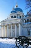 Winteransicht des Dreiheits-Kathedrale Troitsky-sobor im Heiligen-p stockbild