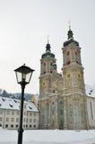 Winteransicht des Schweizer toqn St Gallen Lizenzfreie Stockfotos