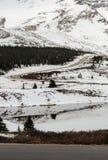 Winteransicht von Kolumbien Icefield in Jasper National Park, Alberta, Kanada lizenzfreie stockfotos