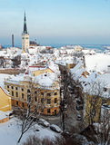 Winteransicht von Tallinn Stockfoto