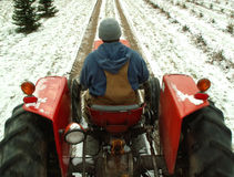 Winterarbeit Lizenzfreies Stockbild
