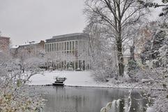 Winterart, χειμερινό πάρκο Στοκ φωτογραφία με δικαίωμα ελεύθερης χρήσης