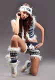Winterart und weise Mädchen Lizenzfreie Stockfotos