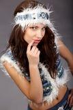 Winterart und weise Mädchen Stockbild