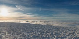 Winteraufstieg zum Berg-iremel Republik von Bashkortostan lizenzfreies stockbild