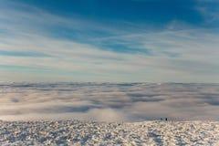 Winteraufstieg zum Berg-iremel Republik von Bashkortostan stockfotografie