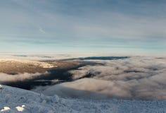 Winteraufstieg zum Berg-iremel Republik von Bashkortostan lizenzfreies stockfoto