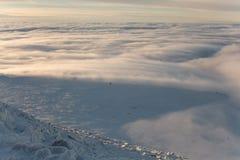 Winteraufstieg zum Berg-iremel Republik von Bashkortostan stockfoto
