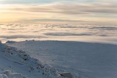 Winteraufstieg zum Berg-iremel Republik von Bashkortostan stockbilder