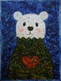 Winterbär Misha Stockbild