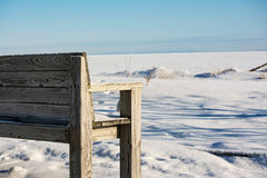 Winterbank Stockfotografie