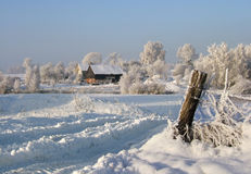 Winterbauernhof Lizenzfreie Stockfotos