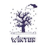 Winterbaum Lizenzfreies Stockfoto