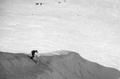 Winterberge bestimmt für freeride Reiten Stockfotografie