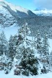 Winterberglandschaft (Österreich, Fernpass, Tiroler Alpen) Lizenzfreie Stockfotografie