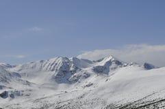 Winterberglandschaft, Rila-Berg, Bulgarien lizenzfreies stockbild