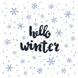 Winterbeschriftung vektor abbildung
