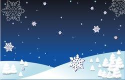 winterbg royaltyfri illustrationer