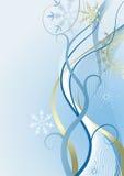 Winterblauhintergrund Stockbild